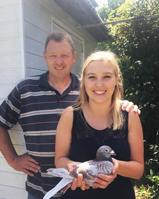 Koen en Annelies Bouwens Sint-Kruis-Winkel (Belgie) 8e Nationale Asduif kleine halve fond jonge duiven KBDB